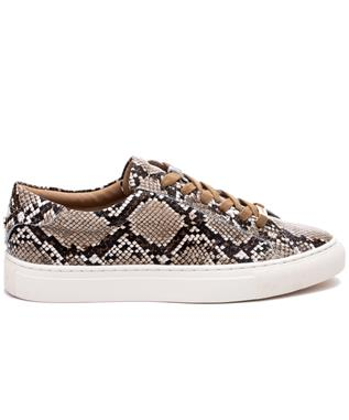 LACEE SNAKE EMBOSSED LACE UP SNEAKER NATURAL EMBOSSED