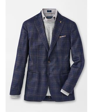 PATRON PLAID SOFT JACKET STARLIGHT BLUE