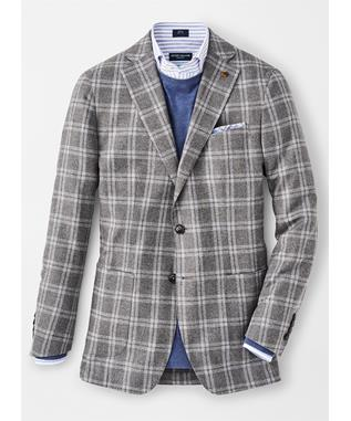 SUFFOLK WINDOWPANE SOFT JACKET ARGENTO