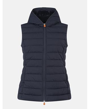 GIRLS ANGY VEST WITH HOOD BLUE BLACK-00146