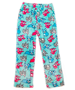 GIRLS FRENCH BULLDOG PANT AQUA