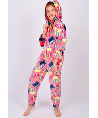 GIRLS MOVIE ONESIE PINK