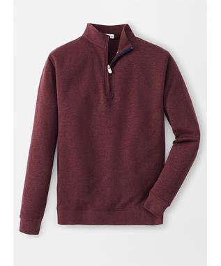 CROWN COMFORT INTERLOCK QUARTER-ZIP ACAI BERRY