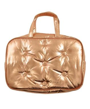COPPER METALLIC COSMETIC BAG