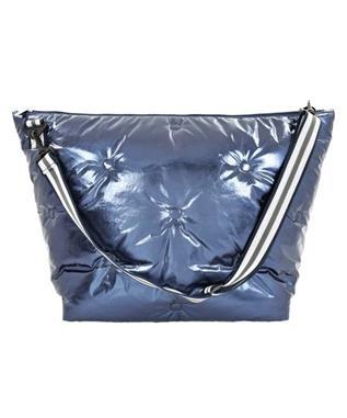 BLUE METALLIC WKND BAG MULTI