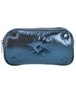 BLUE TUFTED METALLIC SMALL COSMETIC BAG MULTI
