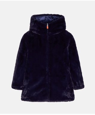 "GIRL""S LONG FUR LINED REVERSIBLE FURY JKT EVENING BLUE"