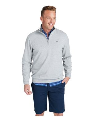 SALTWATER 1/2 ZIP GRAY HEATH