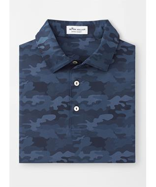 HAYMAKER PRINTED CAMO PERFORMANCE POLO NAVY