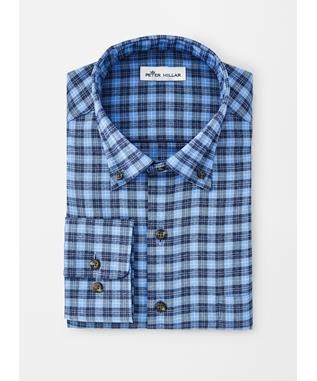 PERFORMANCE FLANNEL HUNTER CHECK WOVEN LIBERTY BLUE