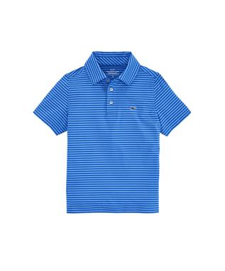 BOYS KENNEDY STRIPE SANKATY POLO KINGFISHER