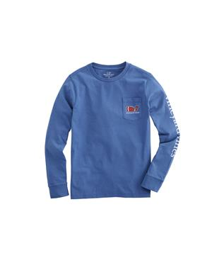 L/S FOOTBALL WHALE TEE