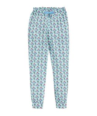 GIRLS FLEECE LOUNGE JOGGER CRYSTAL BLUE