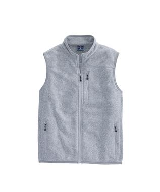 GIRLS SWEATER FLEECE VEST LIGHT GREY HEATHER