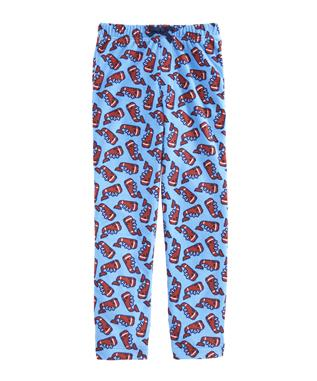 FLEECE WHALE LOUNGE PANTS COASTLINE