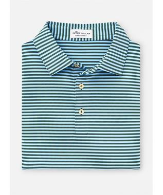 COMPETITION STRIPE STRETCH JERSEY LACINATO/COTTAGE BLUE