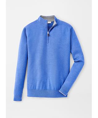 CROWN COMFORT CASHMERE/SILK QUARTER ZIP CHESAPEAKE