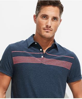 PALM BEACH CHEST STRIPE EDGARTOWN POLO VINEYARD NAVY