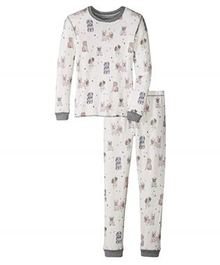 GIRLS PAWFECTION DOG JAMMIES IVORY