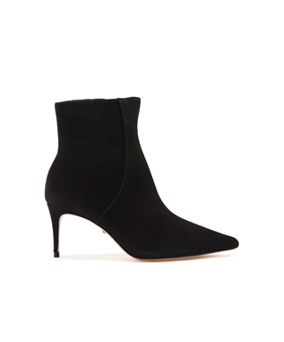 BETTE SUEDE POINTED TOE DRESS BOOTIE BLACK