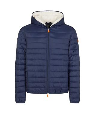 BOYS GIGA SHERPA LINED HOOD JACKET NAVY BLUE