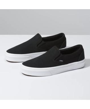 CLASSIC SLIP ON HERRINGBONE BLACK/TRUE WHITE
