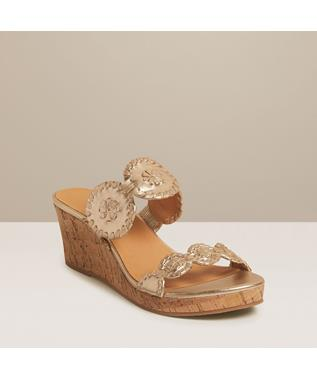 LAUREN 2 STRAP MID WEDGE