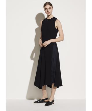 MIXED PANEL DRESS 986 BLACK/COASTAL