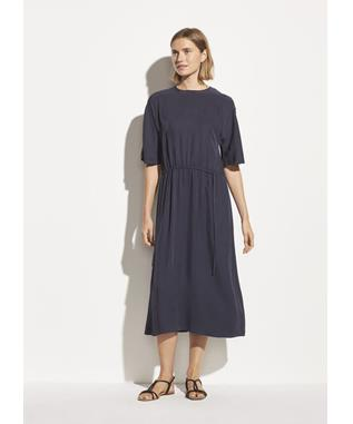 Drape Twill T-Shirt Dress 427 MARINE