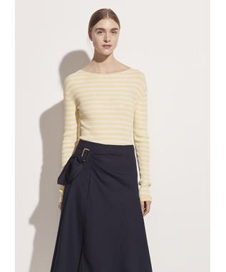 Side Buckle Linen Drape Skirt 427 MARINE