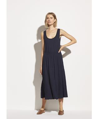 Pleated Scoop Neck Tank Dress