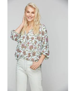 VINE FLORAL LUCY TOP BLUE