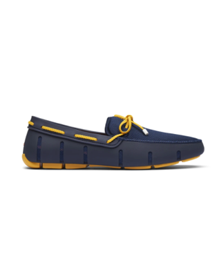 BRAIDED LACE LOAFER NAVY/GOLD