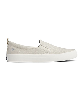 CREST TWIN GORE SPARKLE LINEN SLIP ON