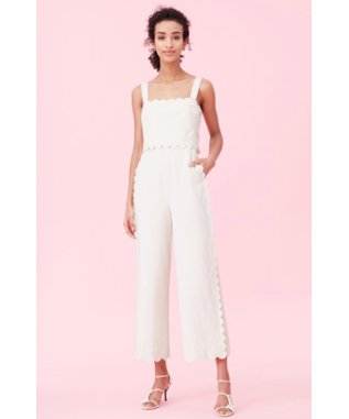 SCALLOP SUITING JUMPSUIT