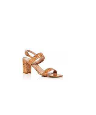 AUSTINE 75MM CORK HEELED SANDAL