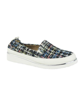 SHA-NELL TWEED BOUCLE SLIP ON SNEAKER