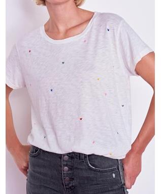 VINTAGE TEE WITH STARS AND HEARTS