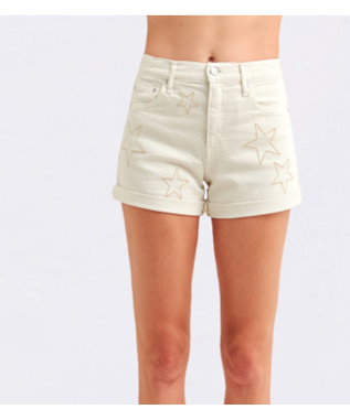ROLL-UP SHORT WITH STARS