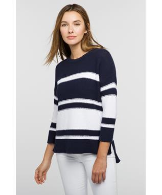 STRIPE HI LOW BOATNECK