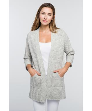 EASY DOLMAN CARDIGAN PEBBLE