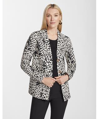 Cheetah Print Twill Coleman Jacket BLACK MULTI