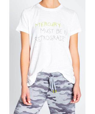 NEON POP MERCURY RETROGRADE TSHIRT IVORY