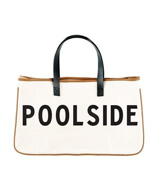 CANVAS TOTE - POOLSIDE NATURAL