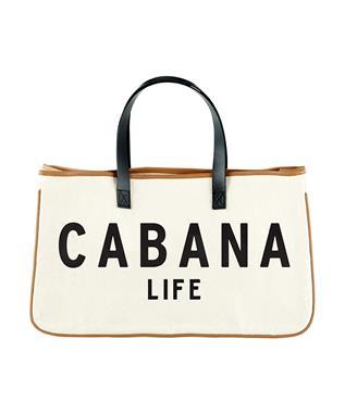 CANVAS TOTE - CABANA LIFE NATURAL