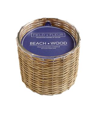 BEACHWOOD 2 WICK WOVEN CANDLE