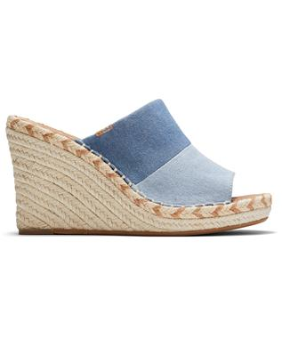 MONICA DENIM MULE WEDGE