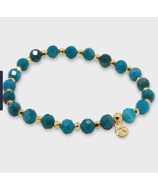 POWER GEMSTON ELASTIC BRACELET INSPIRATI GOLD / APATITE