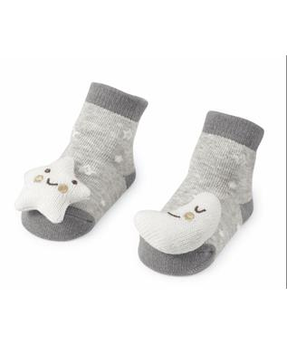 MOON AND STAR RATTLE SOCK