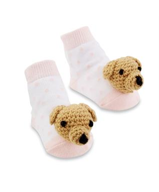 PINK DOG RATTLE SOCK